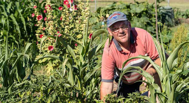 Holder gardener and 'Mr Fix-it', Conrad van Hest. Photo: Margaret Stapper