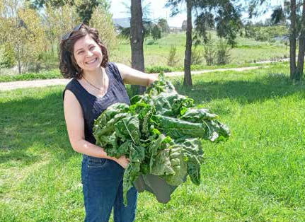Hannah with some of the Holder community garden produce